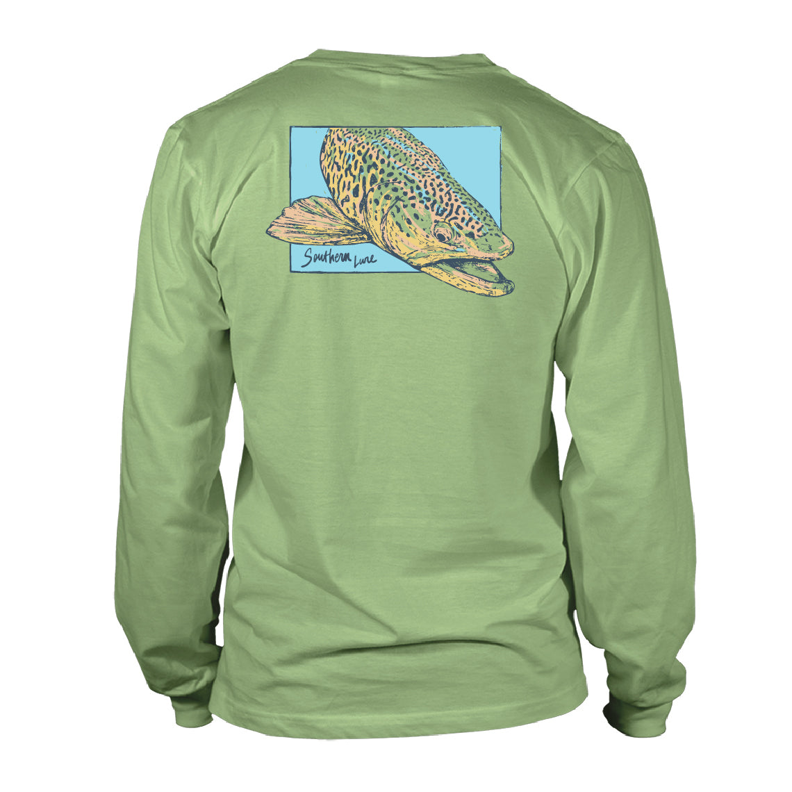 Boy's Youth & Toddler Long Sleeve Cotton T shirt - Verso Trout - Bay