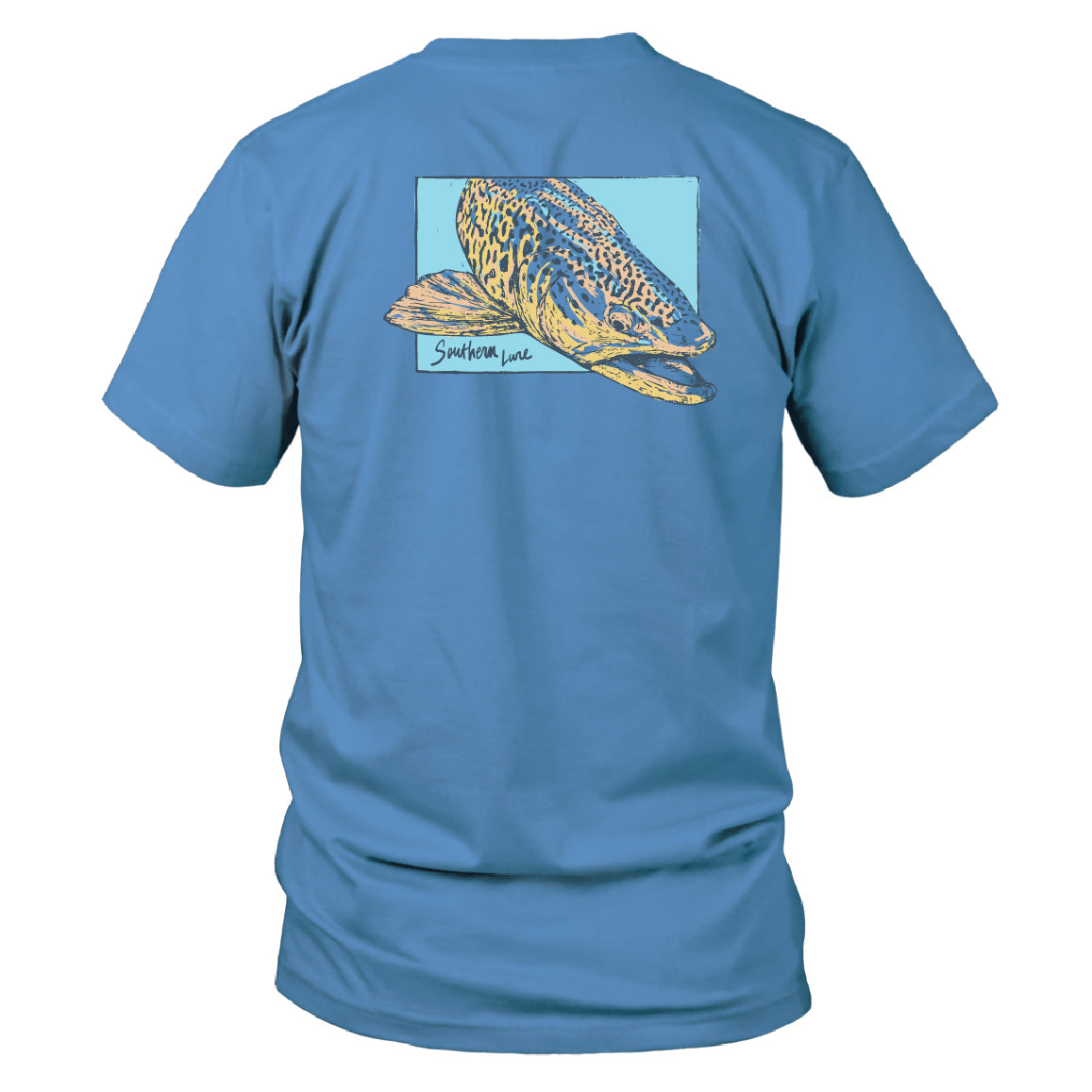 Men's Short Sleeve Cotton Tee - Verso Trout - Dusk