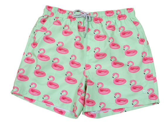 Youth & Toddler - Printed Swim - Flamingo Float - Mint