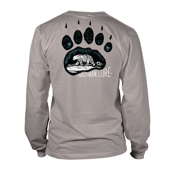 Youth & Toddler - Long Sleeve Tee - Bear Paw - Granite