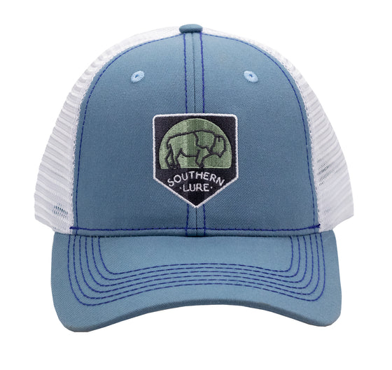 Trucker - Buffalo Patch - Sky Blue/White