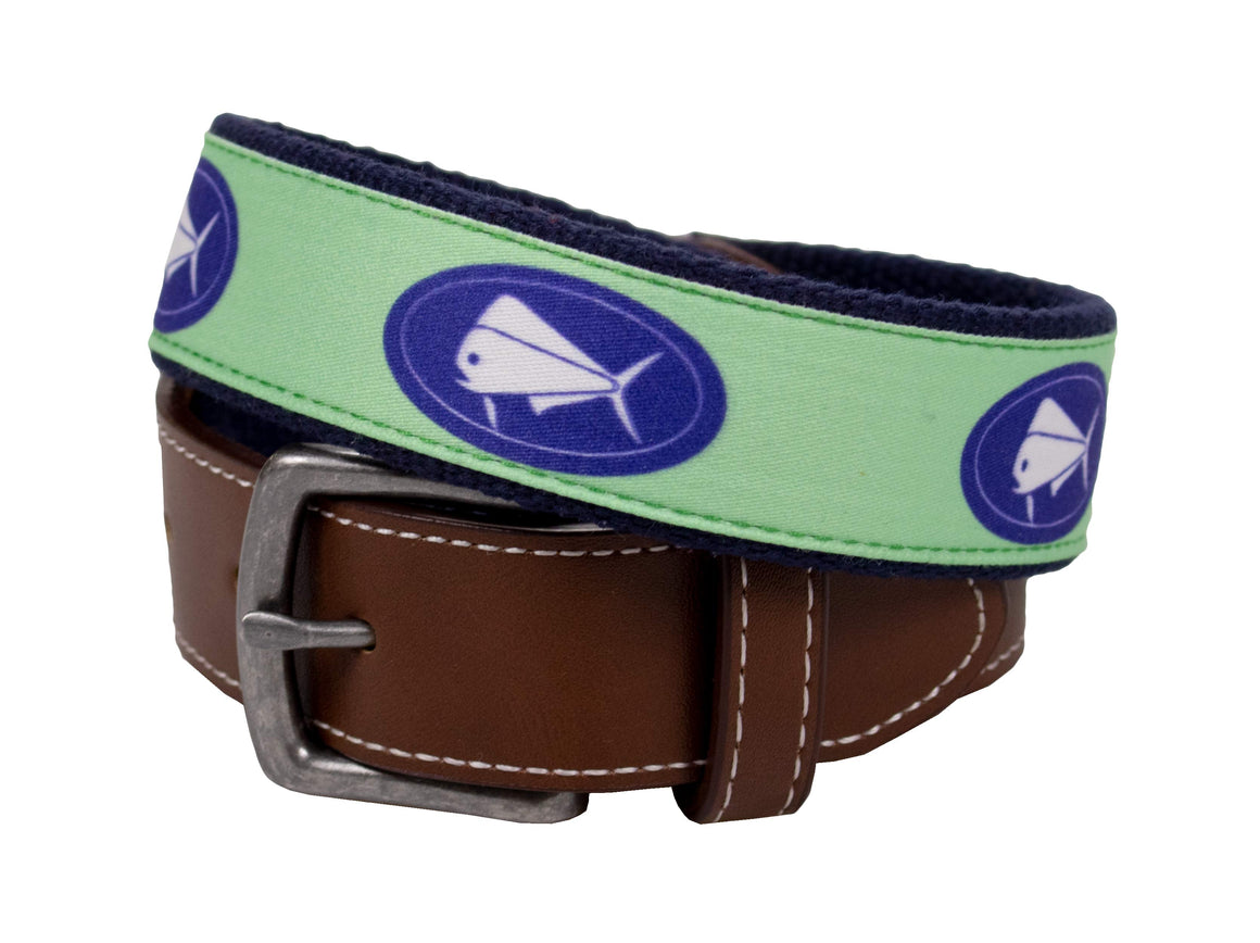 Youth - Belt - SL Elliptical Canvas - Green/Navy