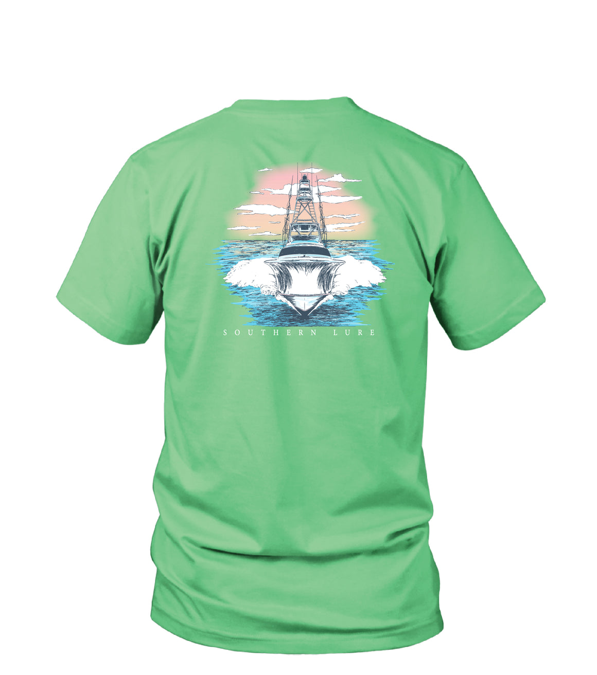Youth - SS Tee - Sunset Boat - Mint