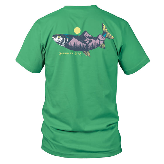 Youth & Toddler Short Sleeve Cotton Tee - Range Trout - Seafoam