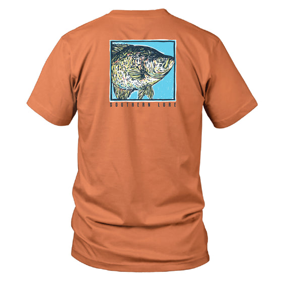 Youth & Toddler  - Short Sleeve Cotton Tee - Crappie - Melon