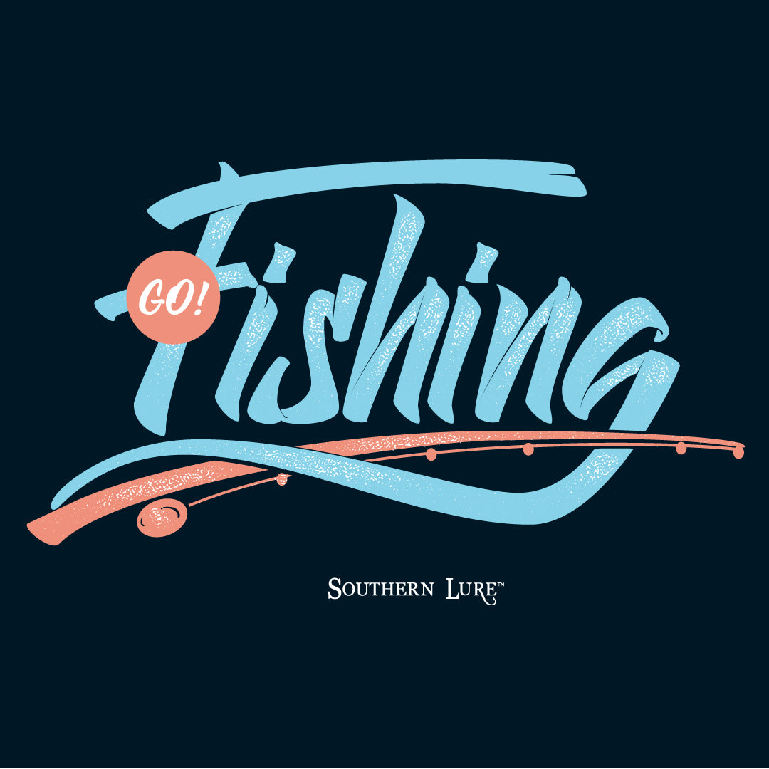 Youth SS Tee - Go Fishing - Pepper
