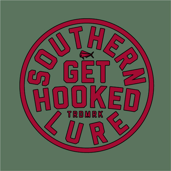 Youth & Toddler - Short Sleeve Tee - Get Hooked Circle - Oak Green