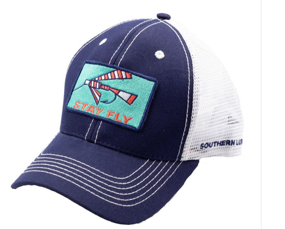 Youth - Trucker Hat - Fly Patch 2 - Navy-White