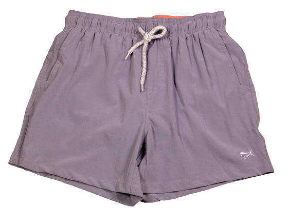 Boy's Swim Trunks - Gull Grey