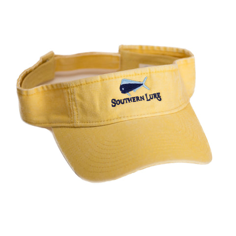 Lemon Yellow Pro Style Cotton Twill Washed Visor