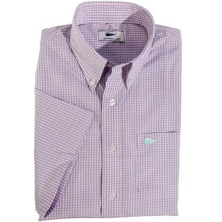 Youth Short Sleeve Woven Sport Shirt - Lilac Check