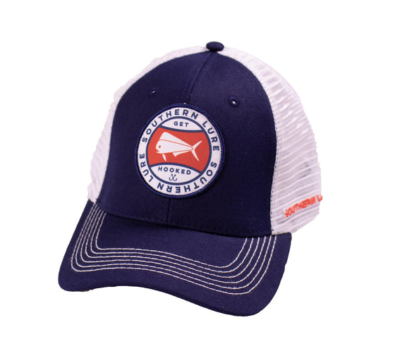 Trucker Hat - SL Circle Badge - Navy/White