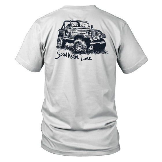 Youth & Toddler Short Sleeve Cotton Tee - Summer Jeep - White