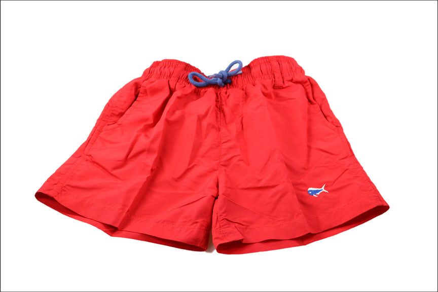 Youth Swim Trunks - Red