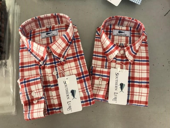Flannel Shirt - Red/White/Blue
