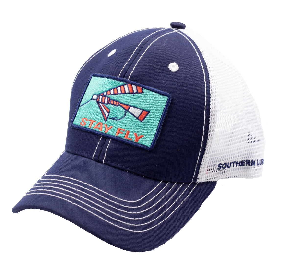 Adult Trucker - Fly Patch 2 - Navy/White