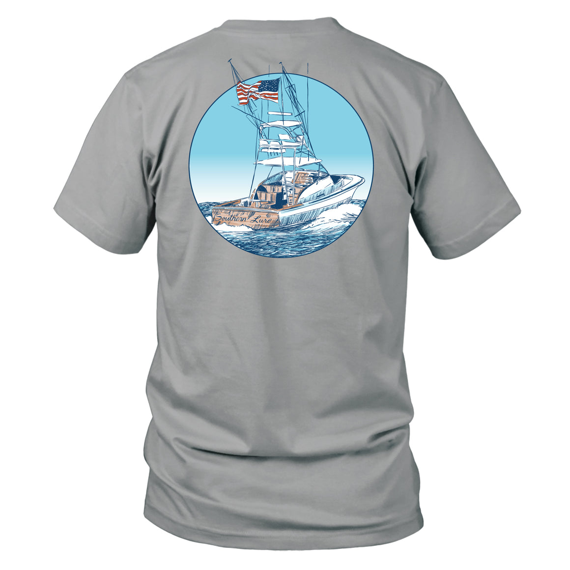 Youth & Toddler Short Sleeve Cotton Tee - USA Boat - Granite