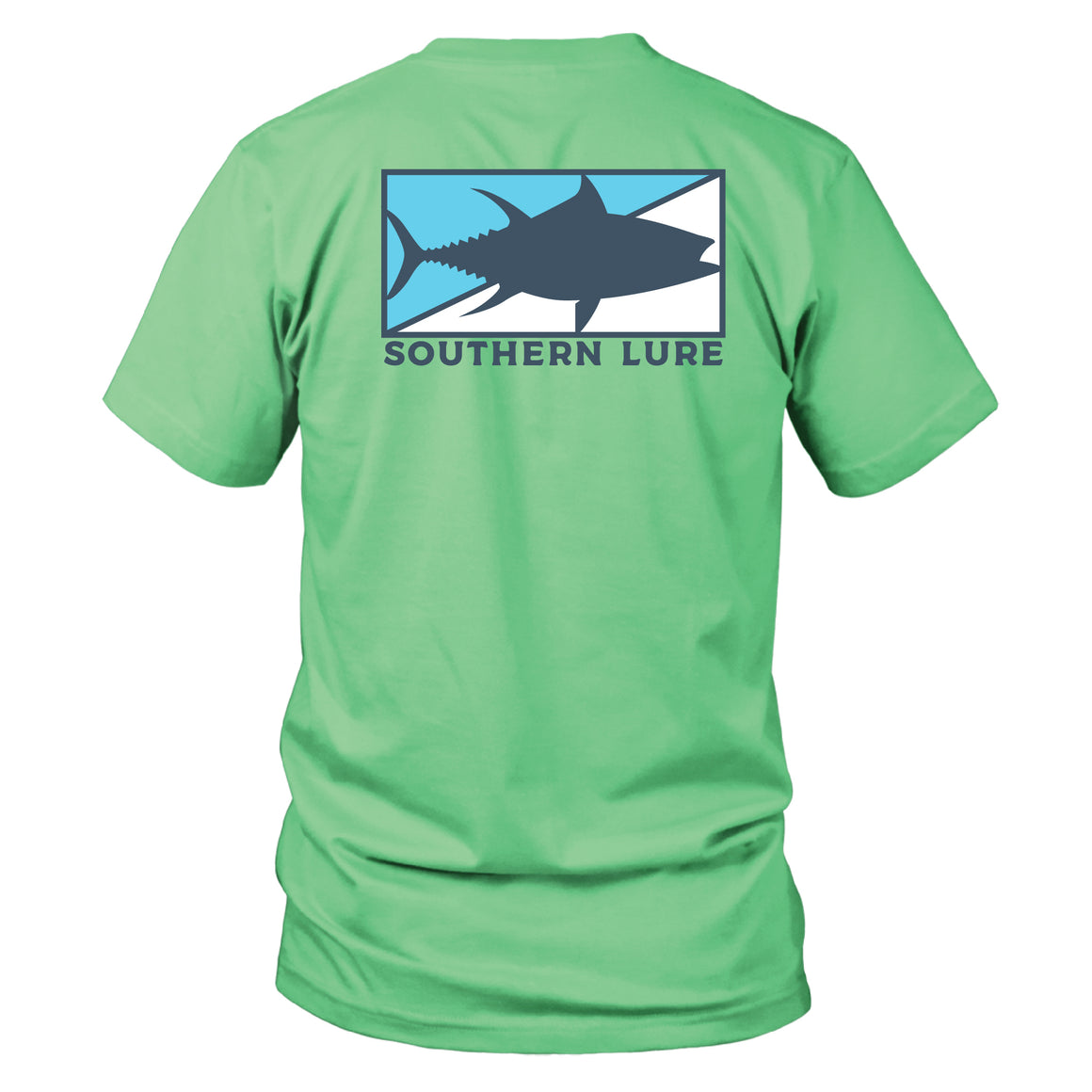 Short Sleeve Cotton Tee - Tuna Patch - Mint