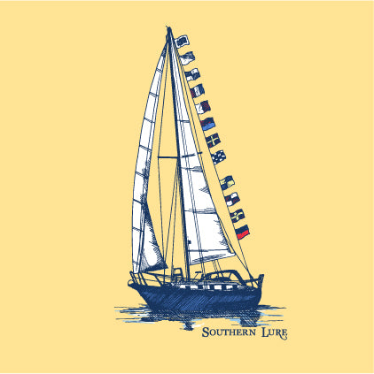 SS Tee - Sailboat - Yellow