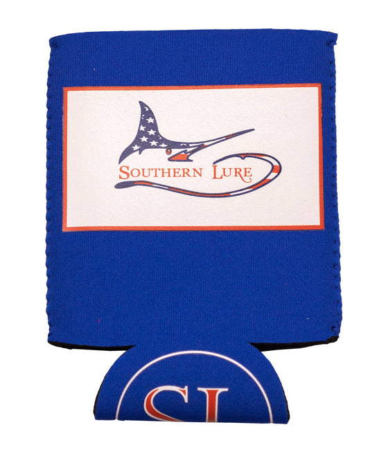Koozie - Marlin Darlin Patriotic Red, White, Blue