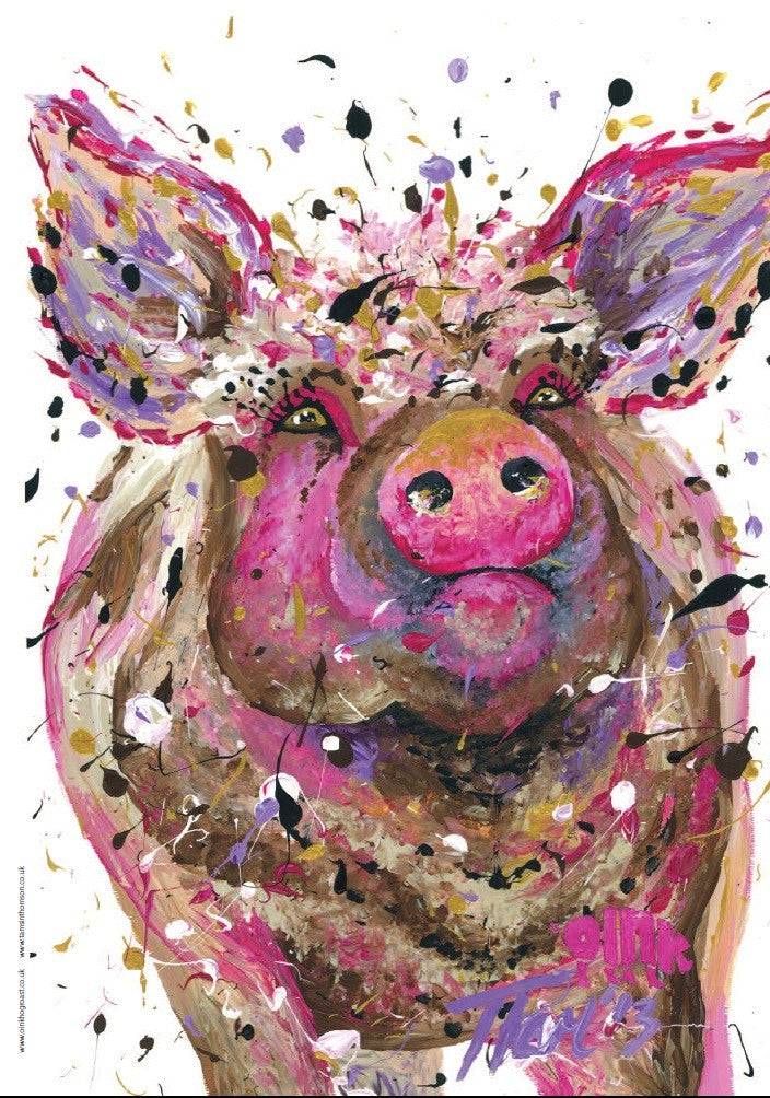 Oink Print by Tamsin Thomson
