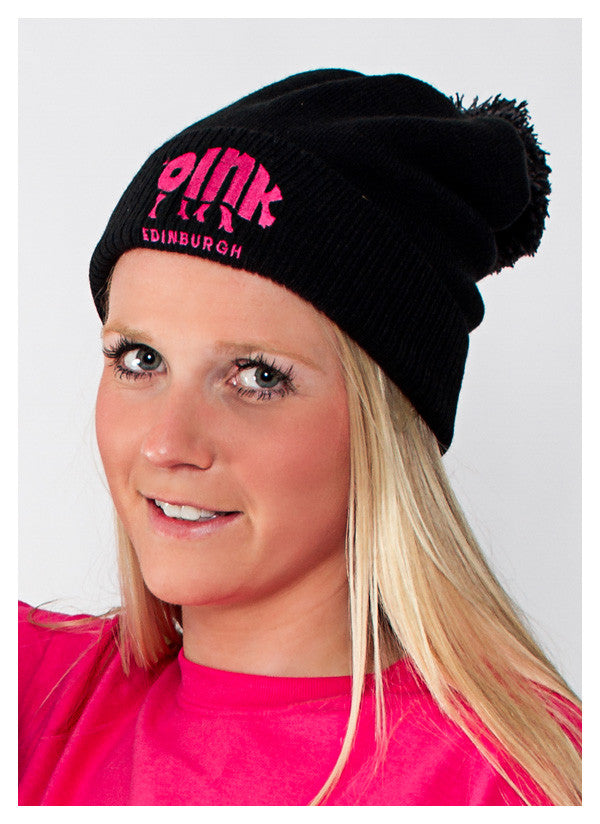Adult's Black Woolly Hat