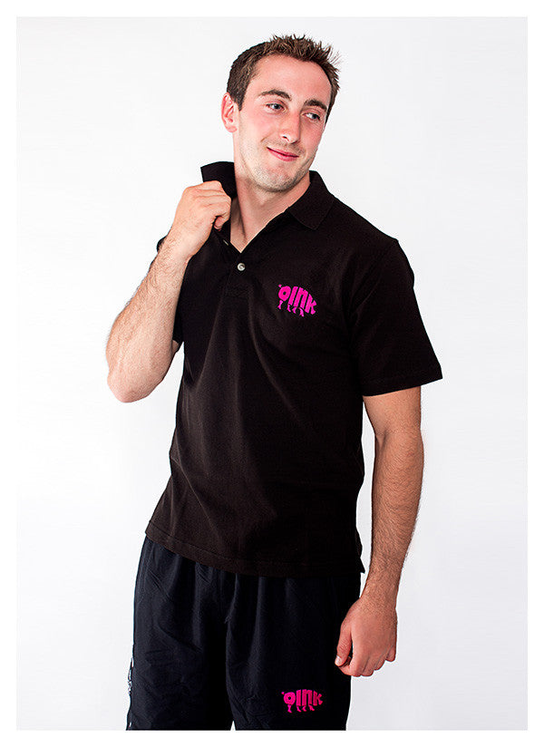 Oink Black Polo Shirt