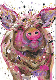 Set of 6 Oink Postcards