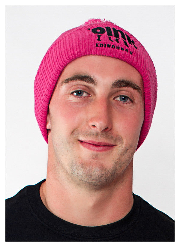 Pink Woolly Hat from Oink