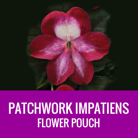 IMPATIENS (Patchwork) - FLOWER POUCH