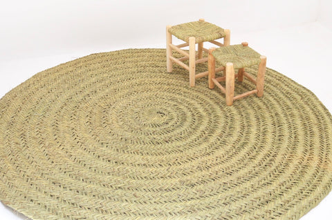 Moroccan Natural Rattan Carpet Rug