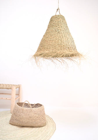 Moroccan Handmade Rattan braided suspension Lamp Woven Natural Rattan Pendant Light