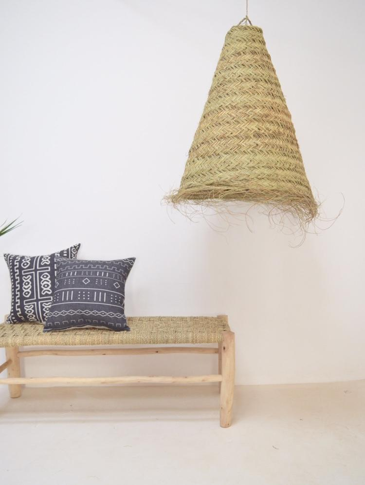 Taghazout Bay XL Moroccan Conical Lampshade Natural Rattan Lampshade Pendant Light