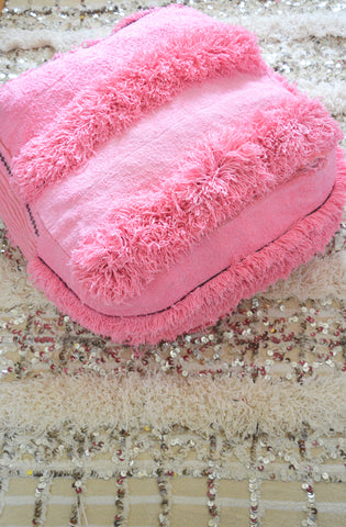 Moroccan Wedding  Blanket Pouf Handira Floor Pillow