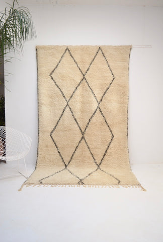 "Vintage Beni Ourain Rug 5'10"" x 10 FT 4 inches"