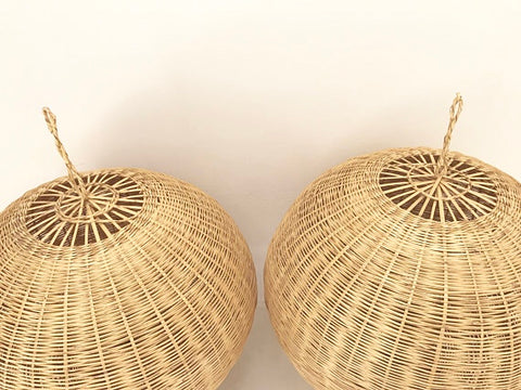 Large Moroccan Natural  Rattan lampshade Pendant Light