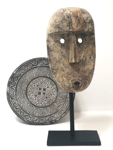 Timor Island Head Mask Sculpture Contemporary