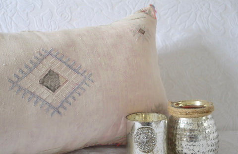 Moroccan Cactus Sabra Silk Cushion Cover