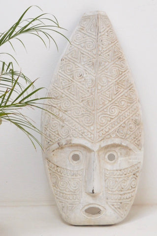 Timor mask hand - carved