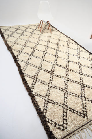 BENI OURAIN Vintage Hand-woven Plush Berber Rug