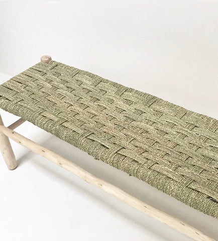 Moroccan Bench Natural Woven Weave Bench Stool