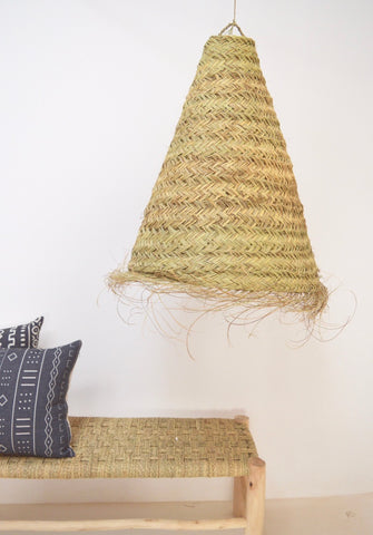 XL Moroccan Conical Lampshade Natural Rattan Lampshade Pendant Light