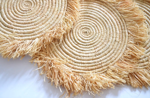 Moroccan Rattan Placemats Wedding Charger set of 10