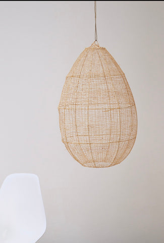 Moroccan Raffia Pendant Light  Shade  Rattan Woven Light