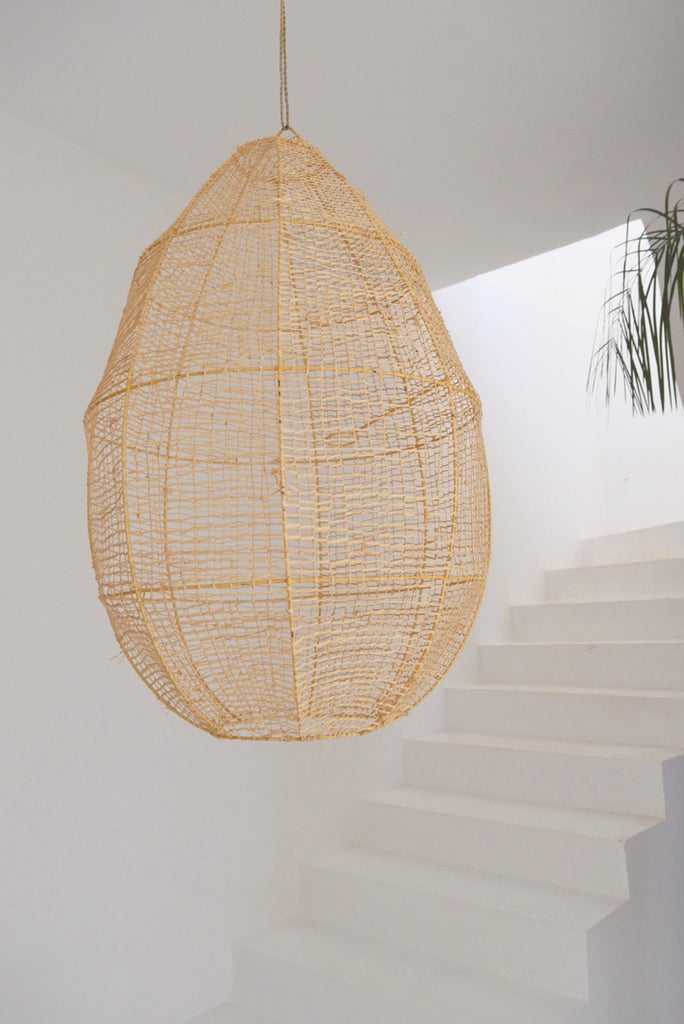 Moroccan Rattan Pendant Light  Shade  Rattan Woven Light