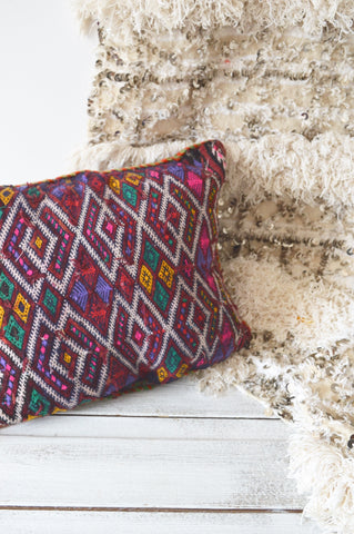 Vintage Moroccan Berber Pillow Cushion Cover Kilim