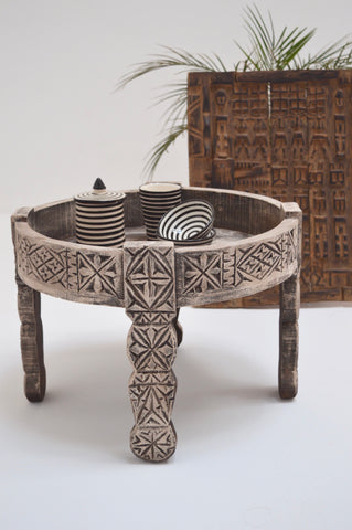 Moroccan Chakki Table Hand Carved Table