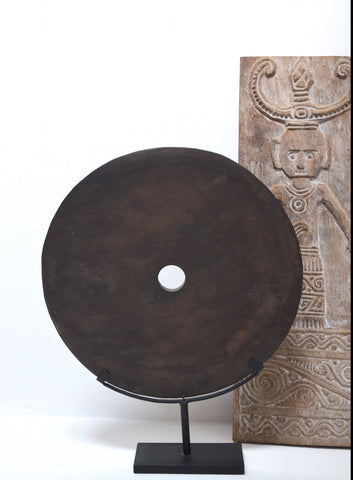 Large Stone Grinding DIsk 50 cm on Metal Display Stand