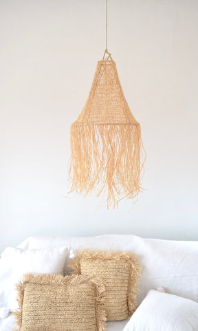 Beldi Moroccan Raffia Light Shades Natural Raffia Crochet Light-shade