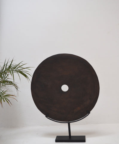 Stone Grinding DIsc on Metal Display Stand